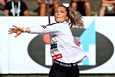 Rauman Urheilijoiden Julia Valtanen (kuvassa) sijoittui Kalevan kisoissa seitsemänneksi, kun keihäs lensi urheilijan pettymykseksi vain 52,80 metriin. Kilpailun ja ensimmäisen SM-kultansa voitti Turun Urheiluliiton Sanne Erkkola omalla ennätyksellään 57,04 metriä.
