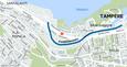 Poliisi valvoi liikennettä perjantaina Paasikiventiellä, jolla on 60 kilometrin tuntinopeusrajoitus. Paasikivenkadun nopeusrajoitus on 50 kilometriä tunnissa.