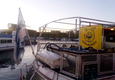 Fanit lähtivät laivalla kohti Hämeenlinnaa Laukontorilta Tampereelta aamukahdeksalta lauantaina.