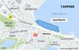 Vaitinaron täytön suunnitelma lähtee siitä, että saaren ja rannan väliin jää kanava.