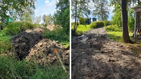 Mari Peltoniemi ihmettelee Elenian toimintaa kaivuutöiden jälkien siistimisessä. Elenia ja Eltel lupaavat korjata vauriot.