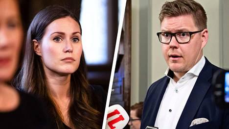 Sanna Marin ja Antti Lindtman kisaavat pääministerin paikasta.