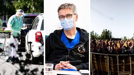 """Infektioyksikön apulaisylilääkärin Janne Laineen mukaan tartuntoja saadaan Pirkanmaalla nyt """"sieltä täältä"""". Yhtä isompaa ketjua ei ole, mutta viime viikolla vietetyn Tammerfestin vaikutus näkyy."""