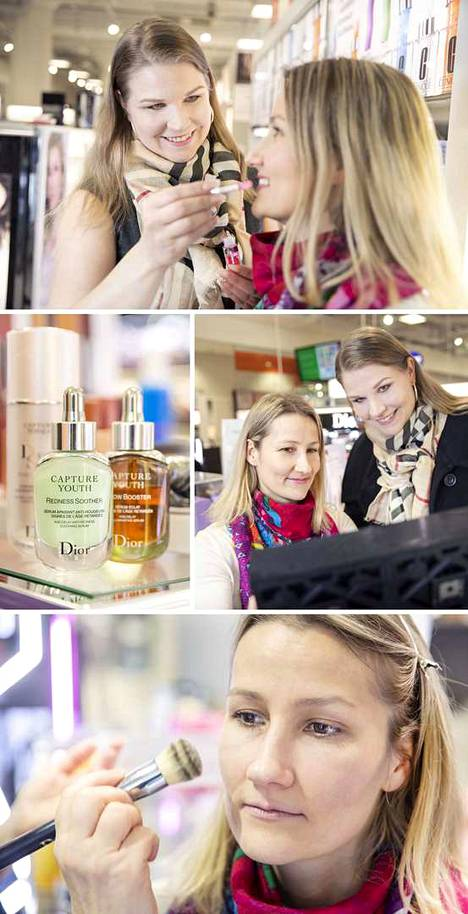 Sokos Satakunnan kosmetiikkaosastolta saa hyviä vinkkejä ja kuulee uusimmat trendit.
