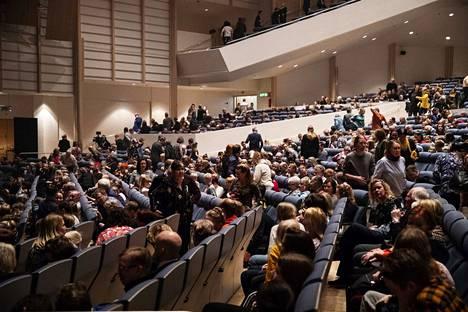 Sinfoniakonsertit kuullaan Tampere-talossa. Arkistokuva.