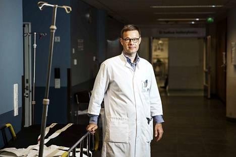 Acutan ylilääkärin Sami Mustajoki kertoo, että päivystykseen haetaan lääkäriä erityisesti hengitystieinfektioiden hoitoon. Arkistokuva.