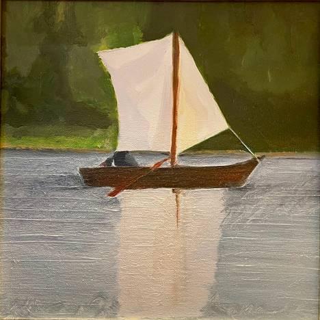 Vuonna 2011 maalattu teos Tyvenessä on tekijälleen muistoja herättävä työ.