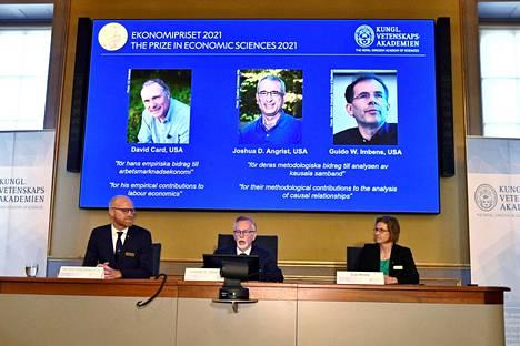 Taloustieteen Nobel-palkinto jaettiin maanantaina 11. lokakuuta Tukholmassa.