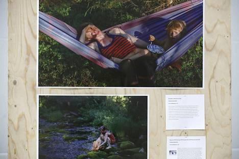 Kuva riippumatossa lapsensa kanssa makaavasta Maria Dorffista toi Touko Hujaselle palkinnon parhaasta henkilökuvasta.