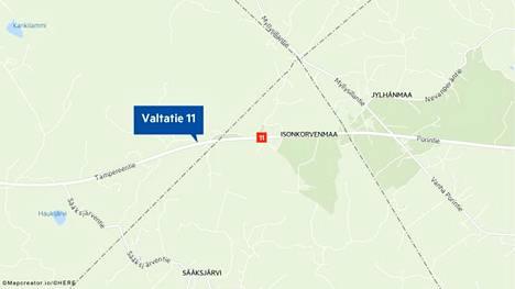 Tieliikennekeskuksen mukaan onnettomuus sattui Sastamalan Jylhänmaan ja Ulvilan Sääksjärventien välillä.