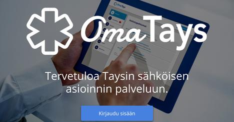 Osoitteessa omatays.fi aloitat kirjautumisen tästä näkymästä.