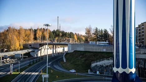 Tampereen Rantatunnelin länteen johtava putki on suljettuna tällä viikolla öisin kello 22–6. Kuva on otettu 20. lokakuuta 2020.