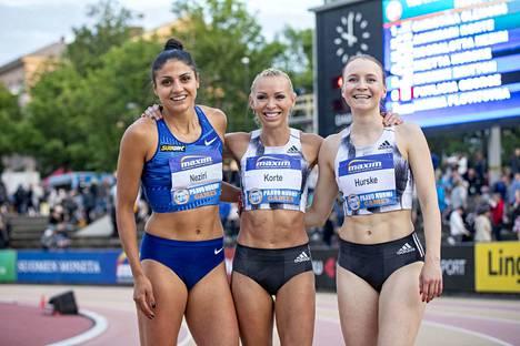 Pika-aiturit Nooralotta Neziri, Annimari Korte ja Reetta Hurske nimettiin Dohan MM-kisoihin.