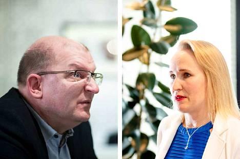 Teollisuusliiton puheenjohtaja Riku Aalto ja Teknologiateollisuuden työmarkkinajohtaja Minna Helle pääsivät torstaina yhteisymmärrykseen työmarkkinakierroksen päänavauksesta.