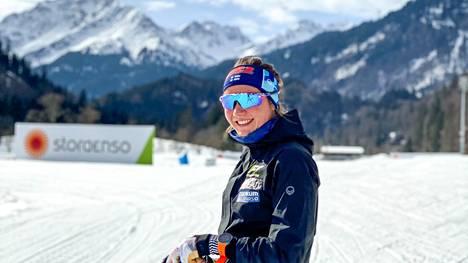 Katri Lylynperä hiihti kevättalvella hienosti MM-Oberstdorfissa.