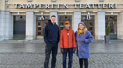 Teatterinjohtaja Mikko Kanninen, Teatteri NEOn jäsen Ville Mäntynen ja yhteistyön taiteellinen suunnittelija Riikka Papunen aloittavat yhteistyön.