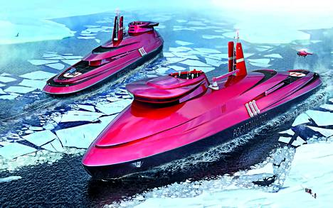 Alusten pituus on 173 metriä ja leveys 34 metriä. Uppouma on 25000 tonnia, mikä on esimerkiksi suomalaismurtajiin verrattuna kaksi- ja puolikertainen.
