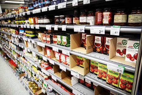 Suomessa kaupan omien merkkien osuus ostoksista on noin 24 prosenttia, kun esimerkiksi Ranskassa ja Britanniassa osuus on 30-40 prosenttia.