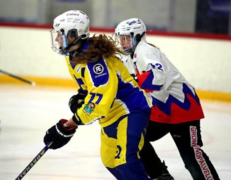 RNK:n Susanna Tapani oli vauhdissa kun RNK Flyers haki voiton Nokiaa vastaan tammikuussa.
