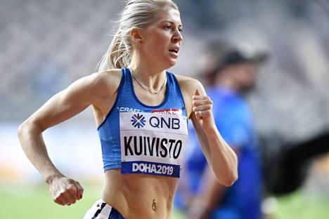Sara Kuivisto juoksi uuden Suomen ennätyksen.
