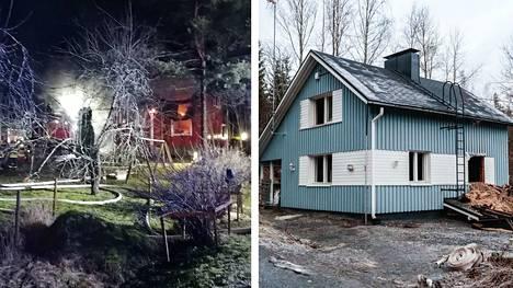 Sunnuntain ja maanantain välisenä yönä paloi kaksi taloa muutaman kilometrin säteellä toisistaan.