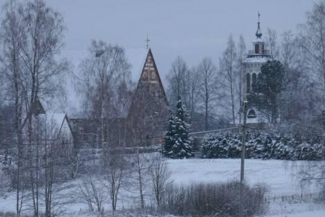 Hannu Eskolin kuvasi Sääksmäen kirkon 4. tammikuuta.