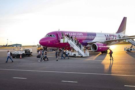 Kuva Wizzairin tiistaiselta lennolta Skopje - Turku.