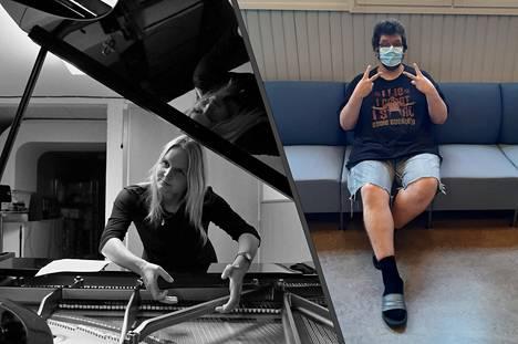 Maria Kallionpää (vas.) ja ToniSami vierailevat uudessa podcastissa heti ensimmäisellä tuotantokaudella.