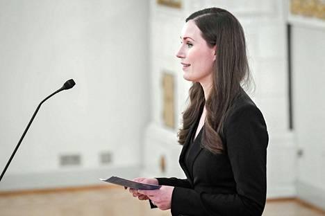Pääministeri Sanna Marin mukaan yhteiskunnan vahvuutta ei mitata sen vauraimpien vahvuudella vaan sillä, kuinka heikoimmassa asemassa olevat kansalaiset pärjäävät.