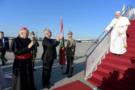 Paavi Franciscus saapui vierailulle Unkariin 12. syyskuuta.