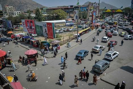 Tältä näytti Kote Sangin kauppa-alueella Kabulissa tiistaina 17.8.2021.