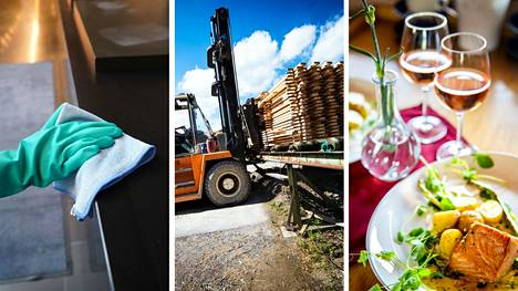 Tällä hetkellä on vaikea löytää työntekijöitä muun muassa siivoojan, trukinkuljettajan ja ravintola-alan töihin Pirkamaalla.