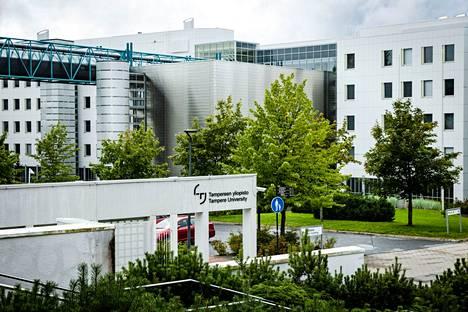 Tampereen yliopiston keskustan kampusta kuvattiin 18. elokuuta.