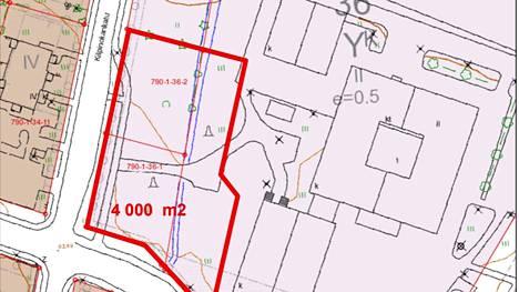 Liikuntahalli sijoittuisi Sylvään koulun kortteliin Kilpinokankadun varteen.