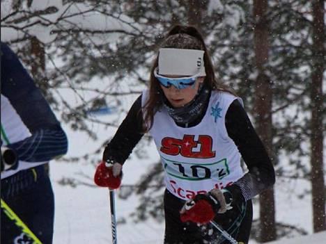 Melia Palsinajärvi lauantain parisprintissä.