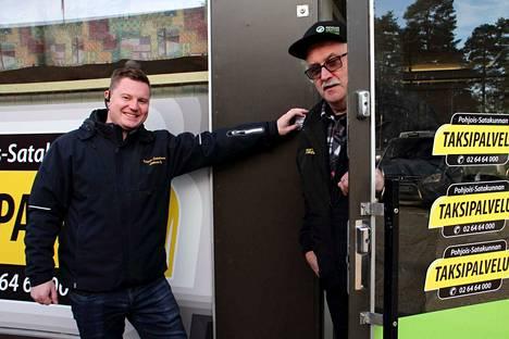 Henri Koivisto ja Veikko Viljanen ovat yritystensä kautta Pohjois-Satakunnan Taksipalvelun osakkaita.