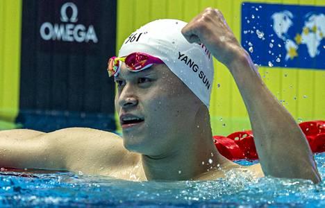Yang Sun tuuletti toista mestaruuttaan.