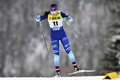 Krista Pärmäkoski oli suomalaisnaisista paras.