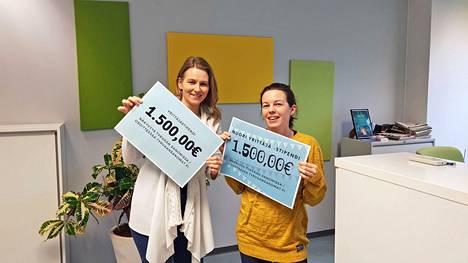 Hae nyt! Tyrvään Sanomien päätoimittaja Hanna Pihlajamäki ja myyntipäällikkö Anna Einola kertovat, että Vammalan Yrittäjät ry:n yhteistyössä tänä vuonna myönnetään kaksi 1 500 euron arvoista markkinointistipendiä yritysten markkinointia vahvistamaan.