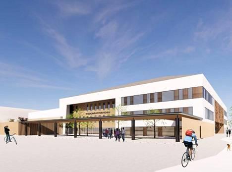 Vaisaaren tulevan koulun arkkitehtuuriin ei oteta vielä kantaa kaavamuutoksessa.