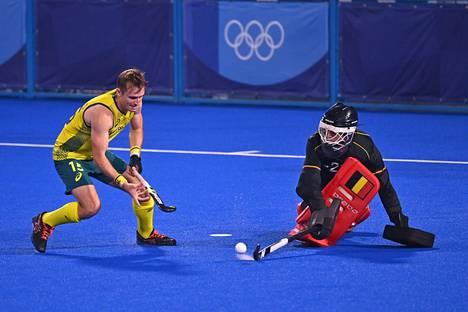 Australian Joshua Simmonds oli yksi niistä pelaajista, jotka joutuivat tunnustamaan Belgian maalivahdin Vincent Vanaschin liian eteväksi.
