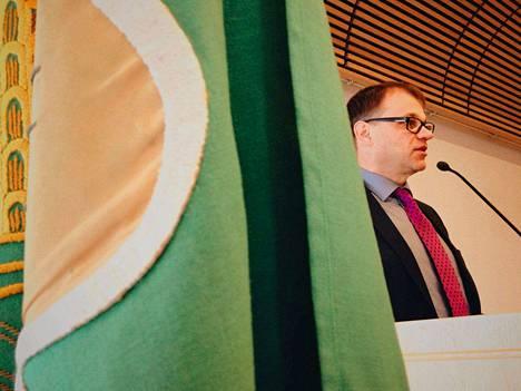 Pääministeri Juha Sipilä (kesk.) osallistui lauantaina Keskustan Satakunnan piirin vuosikokoukseen Huittisissa.