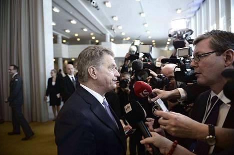Presidentti Niinistö on suosittu.