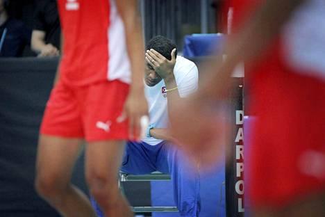 Kuuban lentopallomaajoukkueesta jo kahdeksan on pidätetty raiskausepäilyn vuoksi. Kuva on perjantaina pelatusta Suomi-Kuuba-pelistä.