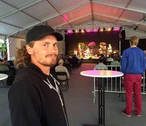 Porilainen Juha Karinen kiertää Pori Jazzin ilmaiskonsertteja sen verran kuin töiltään ehtii.