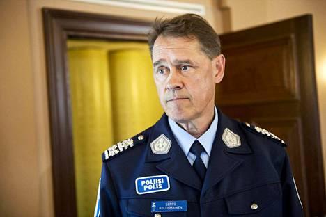 Poliisiylijohtaja Seppo Kolehmainen. Arkistokuva.
