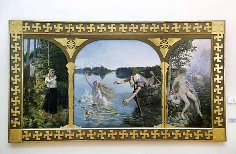 Suomen Pankissa esillä oleva Akseli Gallen-Kallelan Aino-triptyykki on maalattu ensin eli vuonna 1889. Erot Ateneumin Ainoon huomaa vasta kuvia vierekkäin vertaillessa.
