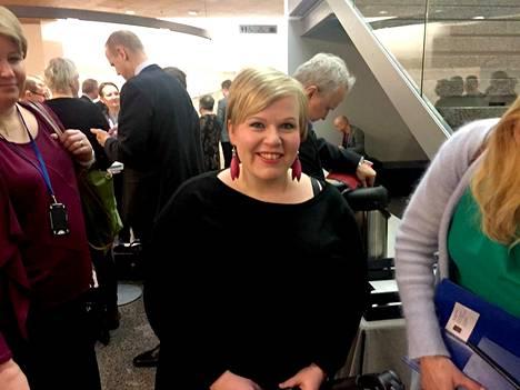 Vanhempainvapaalla oleva tiede- ja kulttuuriministeri Annika Saarikko oli mukana eduskuntatyhmän ja puoluehallituksen yhteiskokouksessa. Kuopus-Kaarlo oli mukana.