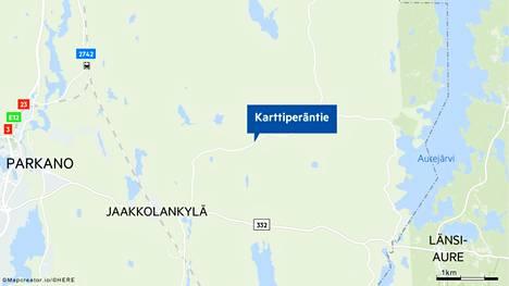 Parkanon Karttiperäntiellä tapahtui perjantain 8.10. ja lauantain 9.10. välisenä yönä onnettomuus, jossa kuoli yksi ihminen.