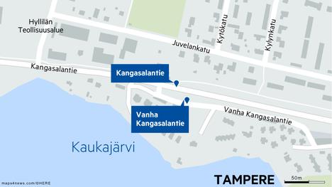 Vanha Kangasalantie sijaitsee Kangasalantien kupeessa.